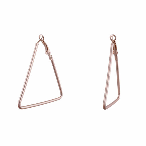 Rose Gold Triangles Earrings 02