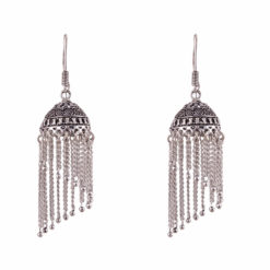Silver Jhumka Earrings Earrings 01