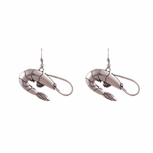 Silver Prawns Earrings 01