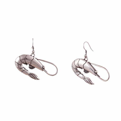 Silver Prawns Earrings 02