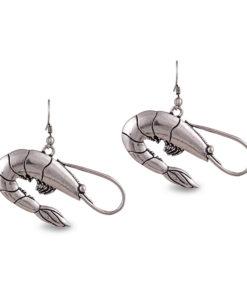 Silver Prawns Earrings