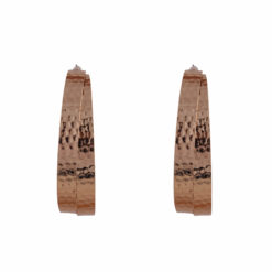 Thick Metallic Half Hoops Earrings 01
