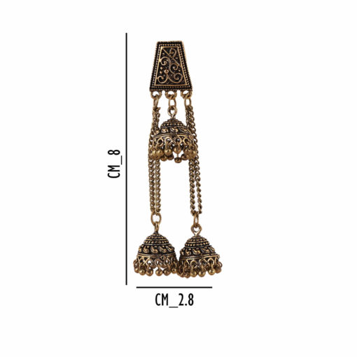 Antique Layered Jhumkis Earrings 04