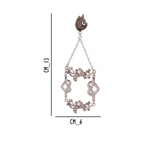 Antique Silver Birds Earrings 04