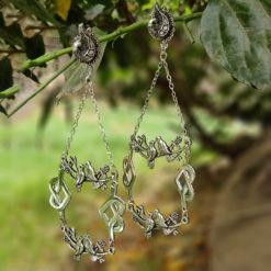 Antique Silver Birds Earrings 05