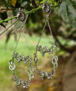 Antique Silver Birds Earrings