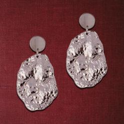 Crumpled Silver Dollops Earrings