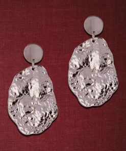Crumpled Silver Dollops Earrings