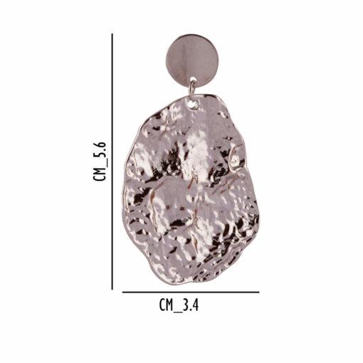 Crumpled silver dollops earrings 04