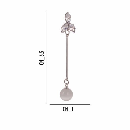Dainty Petals and Silver Orbs Earrings 04