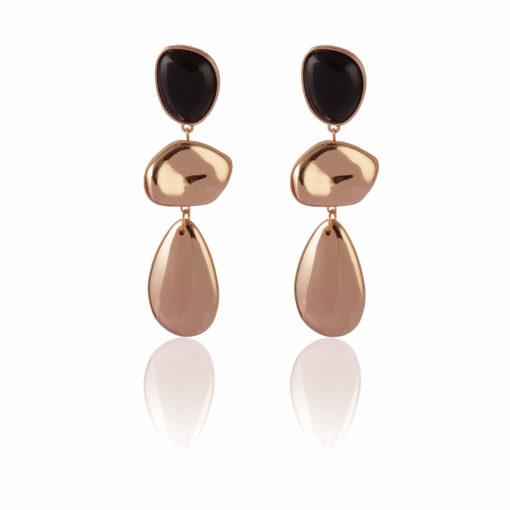 Dramatic Gold Danglers Earrings 01