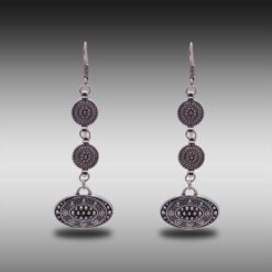 Ethnic Silver Discs Earrings 5