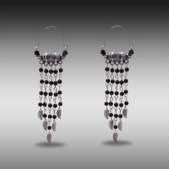 Ethnic Silver and Bead Chains Earrings 5