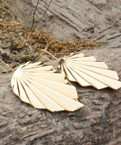 Funky Golden Leaves Earrings