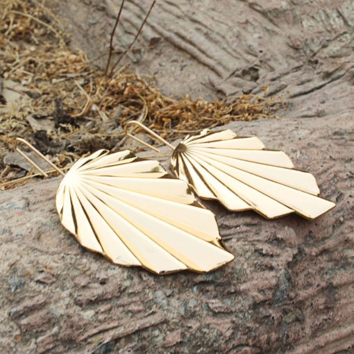 Funky Golden Leaves Earrings