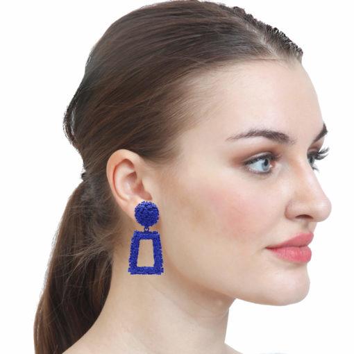 Funky Square Frames Earrings 3