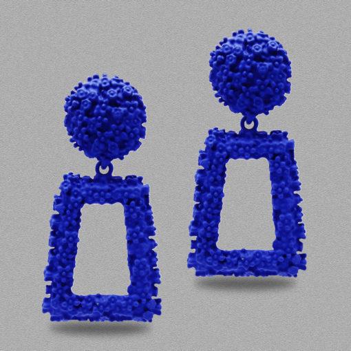 Funky Square Frames Earrings
