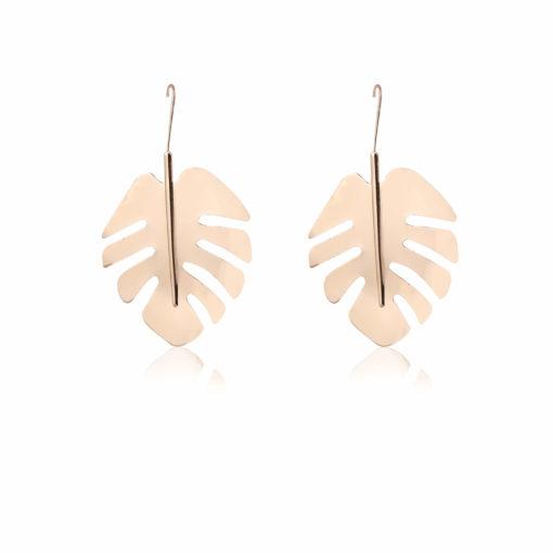 Golden English Oak Leaves Earrings 01
