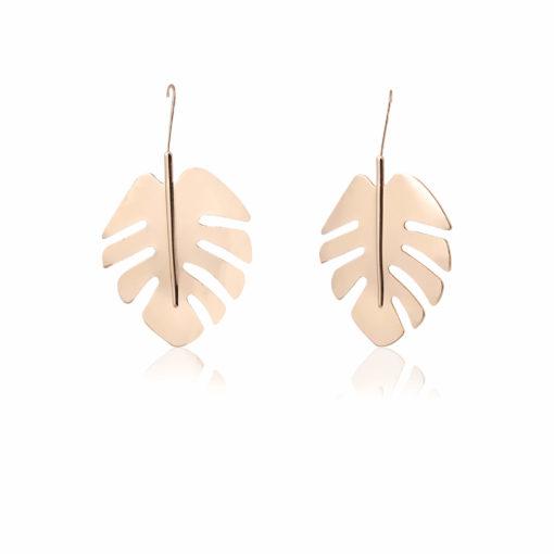 Golden English Oak Leaves Earrings 02