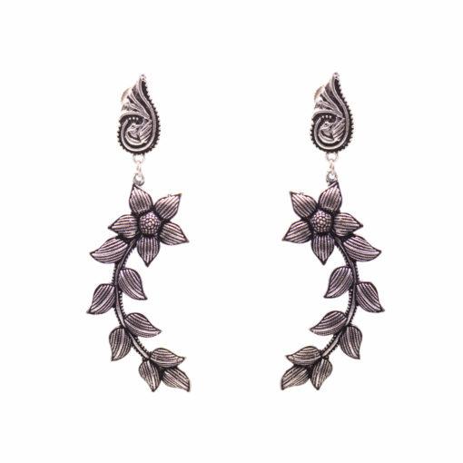 Peacock Floral Curves Earrings 03