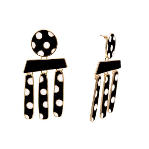 Polka Dots on Gold Earrings 2