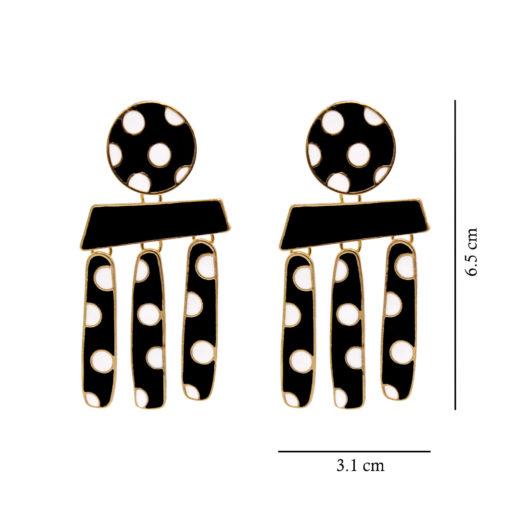 Polka Dots on Gold Earrings 4