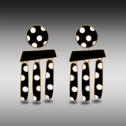 Polka Dots on Gold Earrings 5