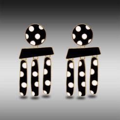 Polka Dots on Gold Earrings 5