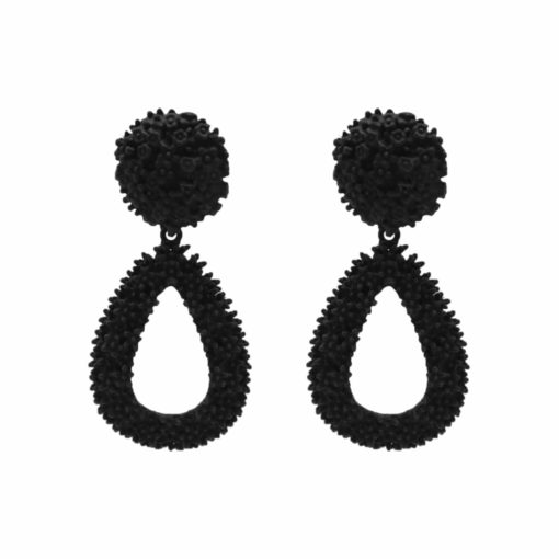 Quirky Black Rubber Jhumkas Earrings 1