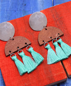 Shimmery Tasselled Earrings