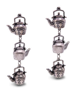 Silver Dangling Kettles earrings