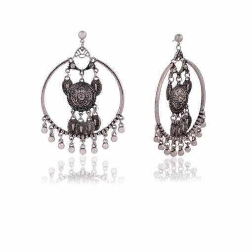 Silver Dreamcatchers Hoops Earrings 02