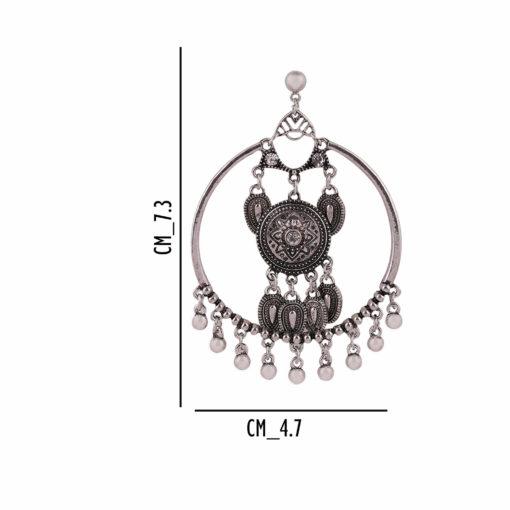 Silver Dreamcatchers Hoops Earrings 04