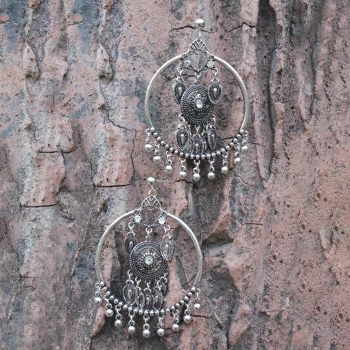 Silver Dreamcatchers Hoops Earrings 05
