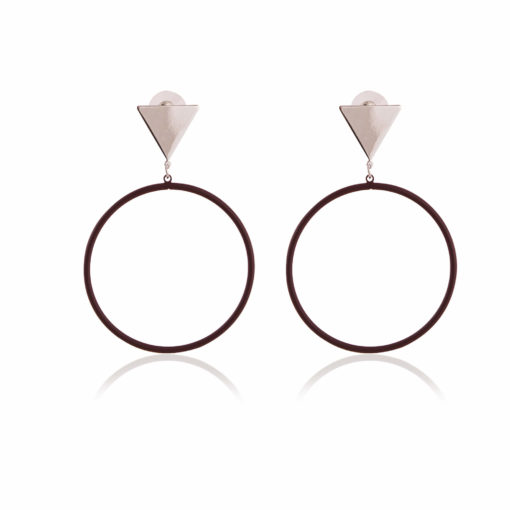 Trendy Triangles & Circles Earrings 01