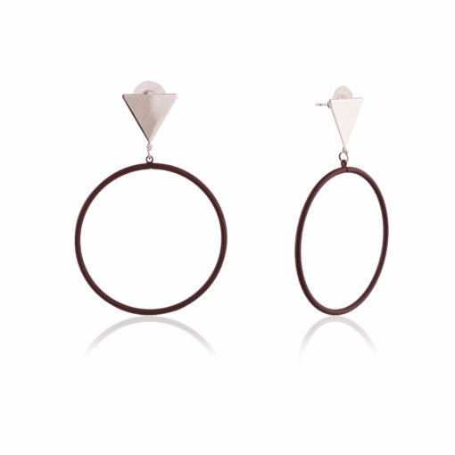 Trendy Triangles & Circles Earrings 02