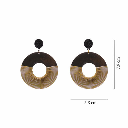 Wood Polish Quirky Solid Hoops Earrings 5